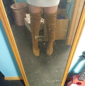 Forever 21 over knee high boots
